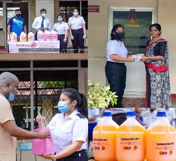 The wonderful Rotaractors of KDU donating supplies to schools in need.