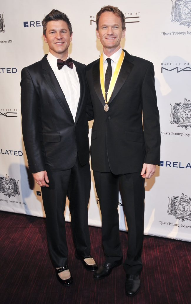 Two famous Hollywood starts shown here are gay.